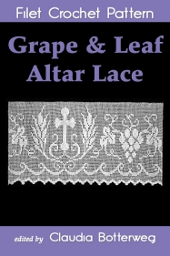 Grape & Leaf Altar Lace Filet Crochet Pattern Book Cover