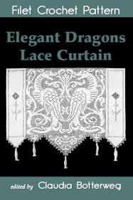 Elegant Dragons Lace Curtain Filet Crochet Pattern