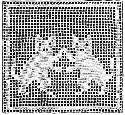 Animal Blocks Bedspread Filet Crochet Pattern Claudia ...