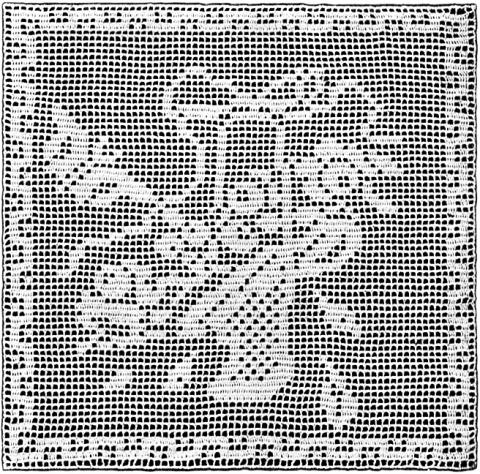 Flower Basket With Butterfly Filet Crochet Pattern Claudia